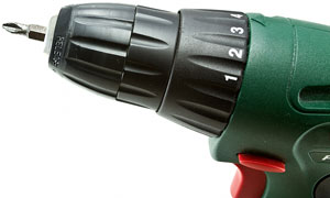 electric drill with phillips screwdriver bit